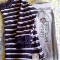 Lote tam.4 blusa manga longa e calça moletom - 4 anos - Oshkosh