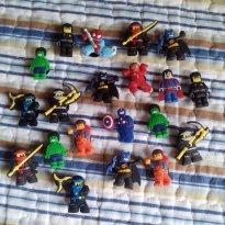 Jibbitz LEGO Crocs - Para Lancheira, Estojo e Babuche - 4 Jibbitz Michelle - Sem faixa etaria - Importada