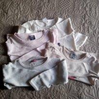 Lote 4 blusas manga longa - veste até 2 anos - 1 ano - Não informada