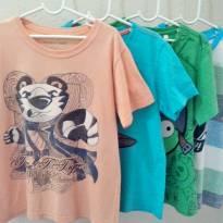 4 Camisetas Tamanho 6 Menino - Tigor - Angry Birds - Disney - GRÁTIS MAIS 1 - 6 anos - Tigor T.  Tigre