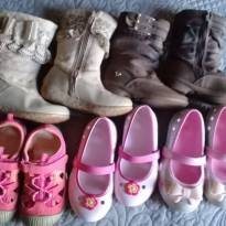 5 Calçados Crocs Bota Sapatênis tamanho 23 E 24 Menina
