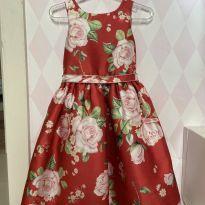 Vestido floral vermelho Petit Cherie - 3 anos - Petit Cherie