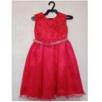 Vestido de festa vermelho - 1 ano - Marca não registrada
