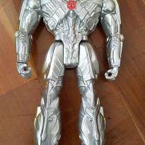 Boneco Silver Knight Optimus Prime -  - Hasbro