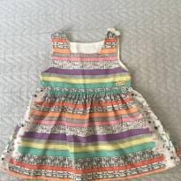 Vestido Alphabeto - Tamanho M - 4 a 6 meses - 3 a 6 meses - Alphabeto