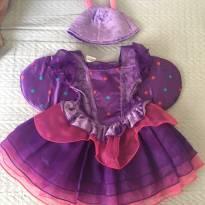 Fantasia Borboleta Vestido Festa Jardim - 12 a 18 meses - 1 ano - Koala Kids