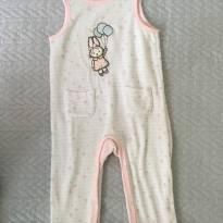 Macacão coelhinha em fleece/ soft - 3 a 6 m - 3 a 6 meses - Baby Way