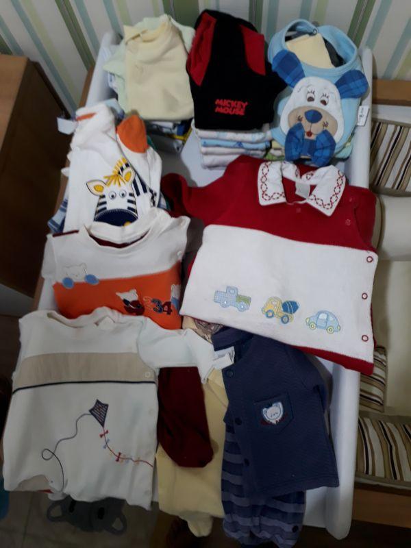 Kit de roupas de Bebê Menino quase não usou 0 a 3 meses no Ficou ... 9a277e69e0f