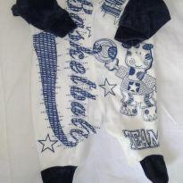 Macacão plush - Recém Nascido - Azul e Rosa