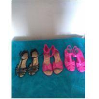Lote 3 Pares de sandálias infantil Tam 28 - 28 - Molekinha
