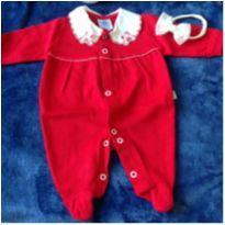 Macacão Longo Bebê Prematuro Vermelho - nunca usado- somente lavado - Prematuro - Lene Baby