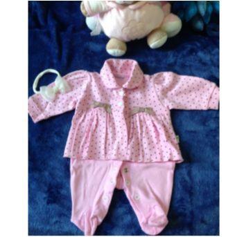 Macacão Longo Bebê Prematuro Poá - nunca usado - somente higienizado - Prematuro - Lene Baby