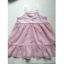 Vestido rosa envelhecido - 2 anos - Não informada
