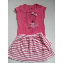 Conjunto saia e camiseta - 2 anos - Baby Club