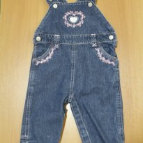 653 Jardineira jeans - 9 meses - Little Me