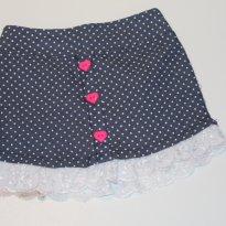 739 Mini saia poá jeans - 2 anos - Marlan