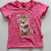 785 Camiseta gatinho - 4 anos - Kyly
