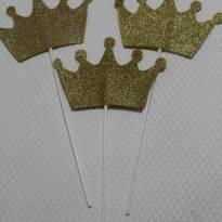 807 Coroas reais douradas - 15 unidades - Sem faixa etaria - Não informada