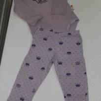 1014 Pijama Princesinha - 6 a 9 meses - Zig Zig Zaa