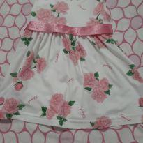 Vestido rosa de festa - 3 meses - Não informada