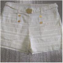 Short bege com detalhes dourado - 14 anos - Miss Trm
