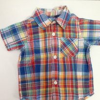 Camisa  quadriculada PLACE - 6 a 9 meses - Place