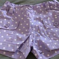 Shorts Bolinha - 6 anos - Palomino e C&A
