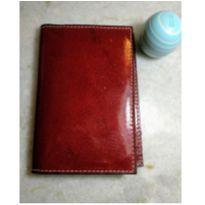 porta passaporte em couro, acabamento gloss - um luxo!! -  - Sem marca