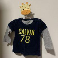 Camiseta manga longa - 6 meses - Calvin Klein