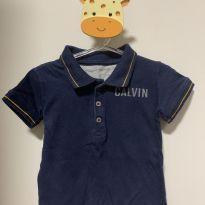 Camiseta  gola polo - 1 ano - Calvin Klein