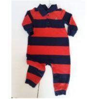 Macacão Listrado Baby Gap 12-18Meses - 12 a 18 meses - Baby Gap