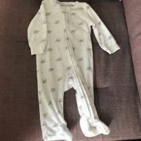 Macacão pijama atoalhado - 6 meses - Carter`s