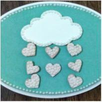 Plaquinha decorativa chuva de pérolas -  - confecção propria e Produto Personalizado