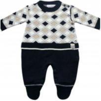 Macacão bebê manga longa em tricô masculino Azul Marinho - NUNCA USADO - 6 a 9 meses - Noruega