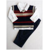Conjunto colete, body e calça de sarja - NUNCA USADO - Tamanho G - 9 a 12 meses - Noruega