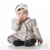 Conjunto de moletom, casaco cinza e calça - NUNCA USADO - Tamanho G - 9 a 12 meses - Planeta pano