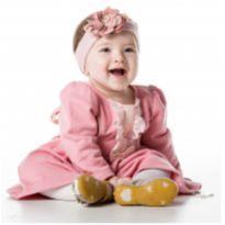 Vestido de Moletom Rosa - NUNCA USADO - Tamanho G - 9 a 12 meses - Planeta pano
