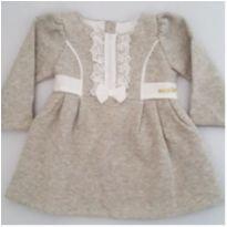 Vestido de Moletom Cinza - NUNCA USADO - Tamanho G - 9 a 12 meses - Planeta pano