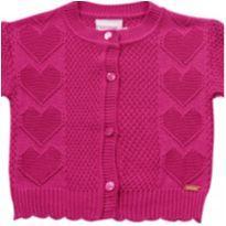 Casaquinho em tricô Pink - NUNCA USADO - Tamanho G - 9 a 12 meses - Noruega