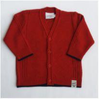 Casaquinho Vermelho em tricô- NUNCA USADO - Tamanho P - 3 a 6 meses - Noruega