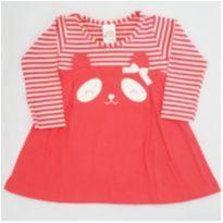 Vestido manga longa ursinha Coral - NUNCA USADO - Tamanho P