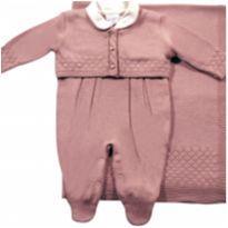 Saída de Maternidade em tricô Rosê - NUNCA USADO - Recém Nascido - Noruega