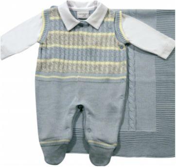 Saída de maternidade em tricô Azul Claro - NUNCA USADO - Recém Nascido - Noruega