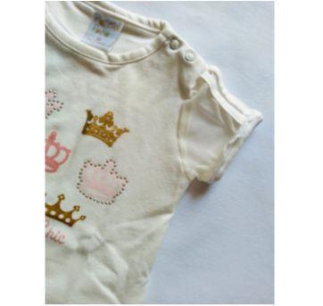 Conjunto de Blusa e Shorts Coroa - NUNCA USADO - Tamanho G - 9 a 12 meses - Planeta pano
