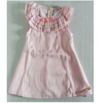 Vestido Rosê sem mangas - NUNCA USADO - Tamanho 1 - 1 ano - Planeta pano