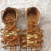 Sandália lacinhos - 24 - Importada