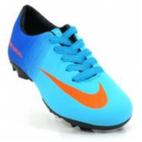 Chuteira Infantil Campo Nike Mercurial - 25 - Nike Replica