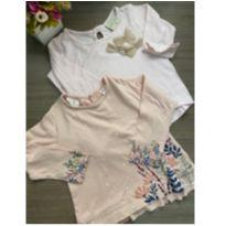 Kit 2 Blusas de bebe menina Baby Zara e Baby Club Tamanho 12 meses - 9 a 12 meses - Zara Baby e Baby Club