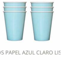 Copos de papel azul claro - 10 unidades -  - Não informada