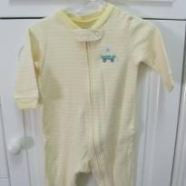 Macacão de listra amarela e branca - 3 meses - Carter`s